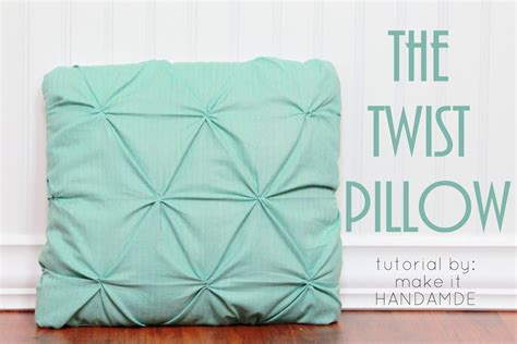 www tutorial twist pillow tutorial