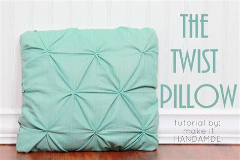 www tutorial twist pillow tutorial