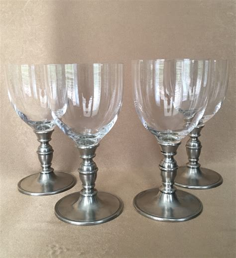 pewter barware pewter wine glasses match pewter caterina crystal made in
