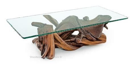 driftwood and glass dining table organic coffee table wood decor branch furniture