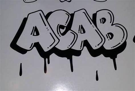acab drip graffiti die cut vinyl sticker decal