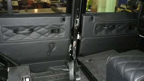land rover defender 4 door interior landrover defender leather interior door cards with black