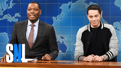 pete davidson update snl weekend update pete davidson s first impressions snl