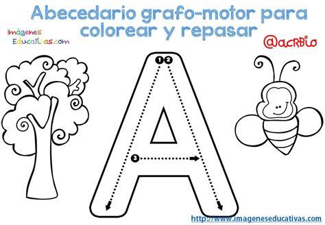 imagenes educativas el abecedario abecedario grafo motor para colorear y repasar 1