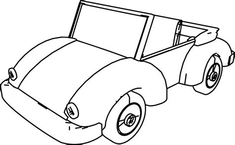 cartoon car coloring page cartoon car volkswagen coloring page wecoloringpage