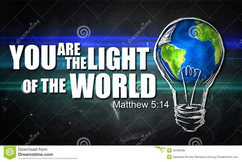 You Are The Light Of by You Are The Light Of The World Stock Illustration Image