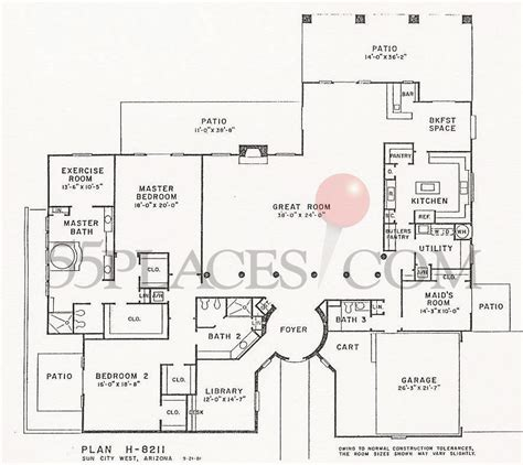 sun city west az floor plans h 8211 floorplan 4651 sq ft sun city west 55places com