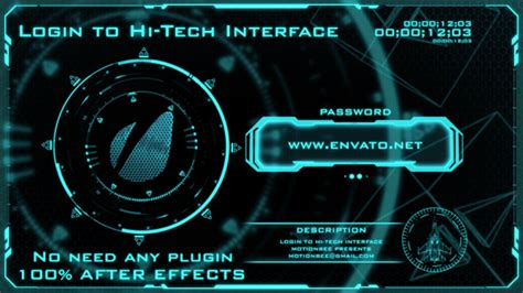 login to hi tech interface by motionbee videohive