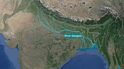 ganges river map india s dying news