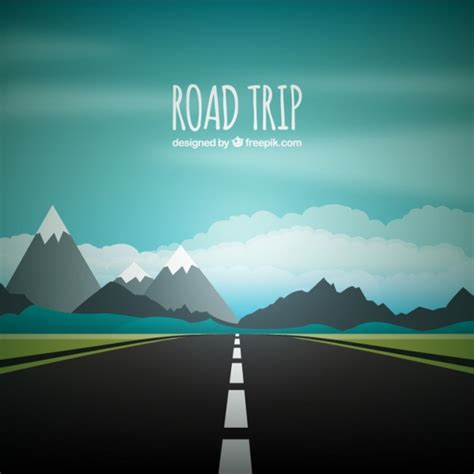 graphic design hill road road trip background vector free download