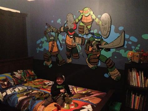 teenage mutant ninja turtles bedroom ideas teenage mutant ninja turtle bedroom mural work in