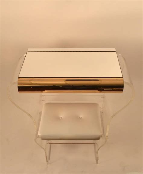 Lucite Vanity Table Lucite Vanity And Bench For Sale At 1stdibs