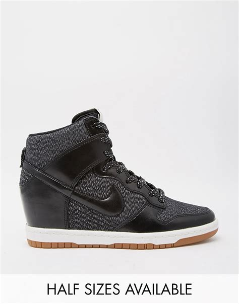Nike Wedges Sky Dunk Colour Kode Ss6186 nike nike dunk sky hi essential wedge trainers at asos