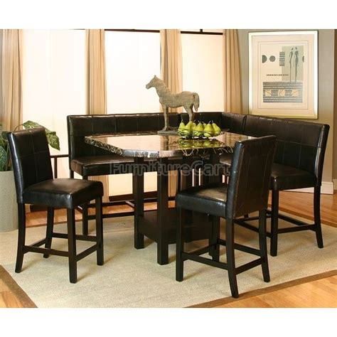 corner dining room set chatham counter height corner dining nook set inspired