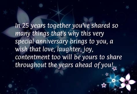 25th Wedding Anniversary Quotes To by 25 Year Work Anniversary Quotes Quotesgram
