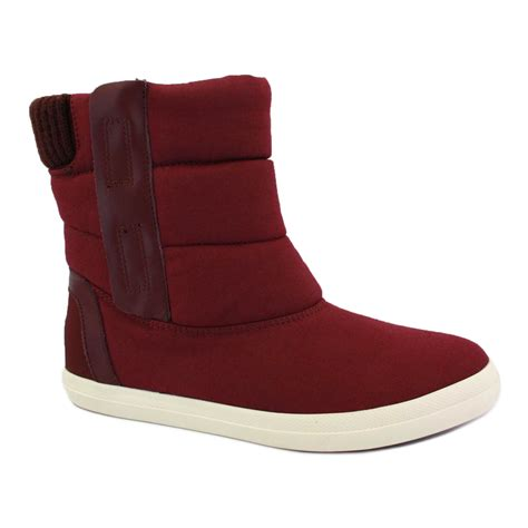 lacoste jardel womens zip textile ankle boots burgundy ebay