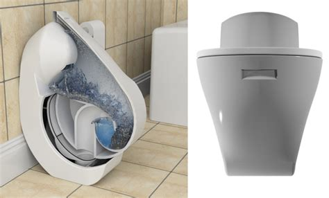 Compact Iota Folding Toilet Concept Drastically Reduces Water Waste Tuvie