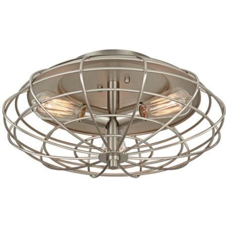 Industrial Cage Ceiling Light by Industrial Cage 7 1 2 Quot High Ceiling Light With Edison Bulb
