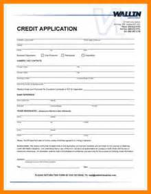 Trade Credit Application Template 9 Business Credit Application Form Template Farmer Resume