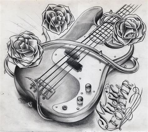 bass guitar tattoo designs willemxsm drawings tattoos and guitars guitar wink