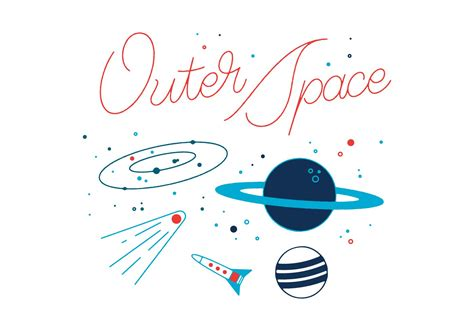 Free Outer Space Vector Free Vector Stock