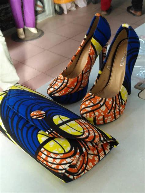 Handmade High - authentic handmade ankara print high heels shoes matching
