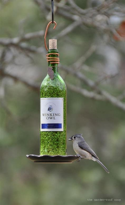 7 Pretty Bird Feeders by How To Make A Pretty Wine Bottle Bird Feeder