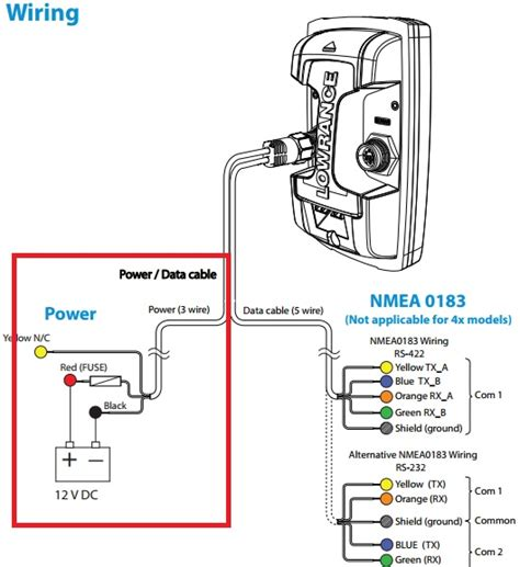 wiring diagram for power cable lowrance hds 7 wiring