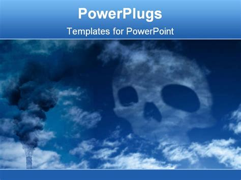 air powerpoint template powerpoint template blue skull harmful wastes