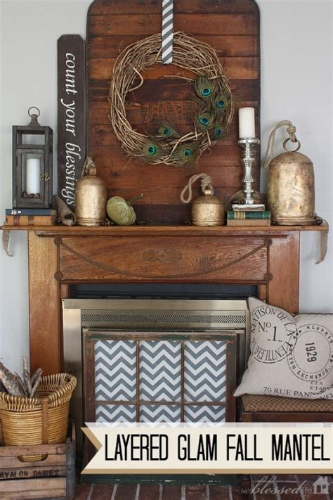 the best fall decor on a budget bless er house layered glam fall mantel
