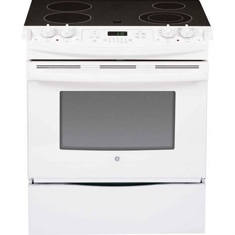 white electric range ge jsp46dpww 30 quot slide in electric range w convection