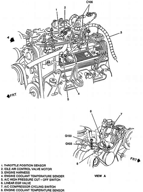 chevy 350 5 7 tbi engine diagram chevy free engine image