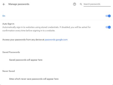 chrome password manager save view and remove passwords in chrome password manager