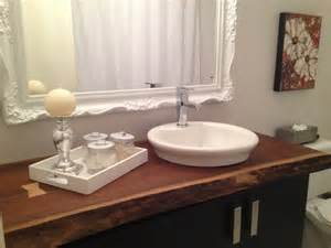 Bathroom Counter Accessories Live Edge Bathroom Countertop Traditional Bathroom Montreal By Bois Design