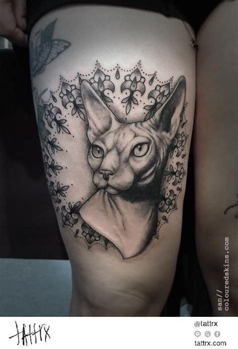 sphynx cat tattoo 30 oddly charming sphynx cat tattoos tattoodo