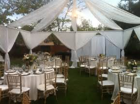 Backyard Cocktail Wedding Reception Draping Decor Party Rental Glendale Ca