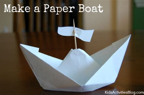 how to make a very small paper boat how to make a paper boat columbus day activities