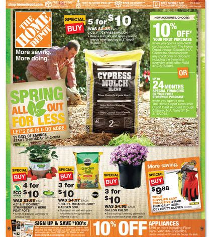 home depot weekly ad home depot circular 2015