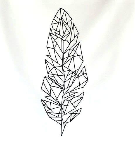 geometric feather tattoo design
