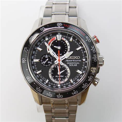 Seiko Sportura Barca Silver Steel seiko sportura perpetual solar chronograph stainless steel