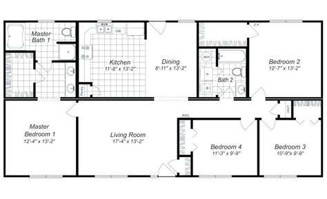 simple four bedroom house plans modern 4 bedroom house designs 4 bedroom house plan