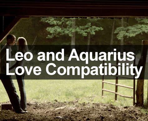 leo and aquarius love compatibility analysis