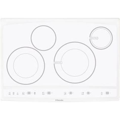 induction cooktop white glass eew30cc55gw hybird induction induction cooktop rangetop