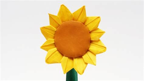 Origami Sunflower - preview origami sunflower jo nakashima time lapse