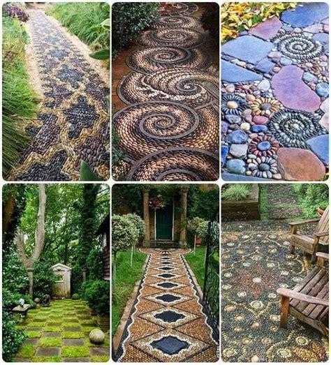 Garden Mosaic Ideas Pebble Mosaic Garden Path Outside Decor Pinterest
