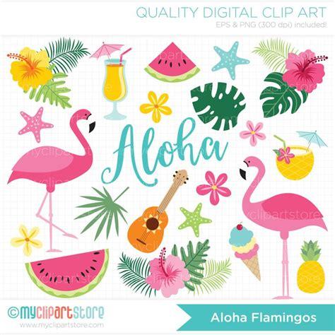 flamingo clip aloha flamingo vector clipart flamingos tropical plants