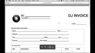 make an invoice template how to make a disc jockey dj invoice excel word