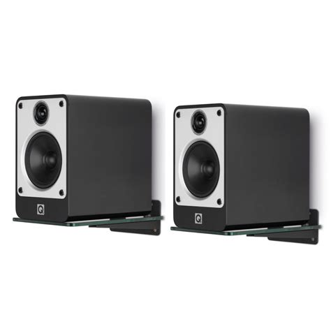 q acoustics glass speaker wall supports