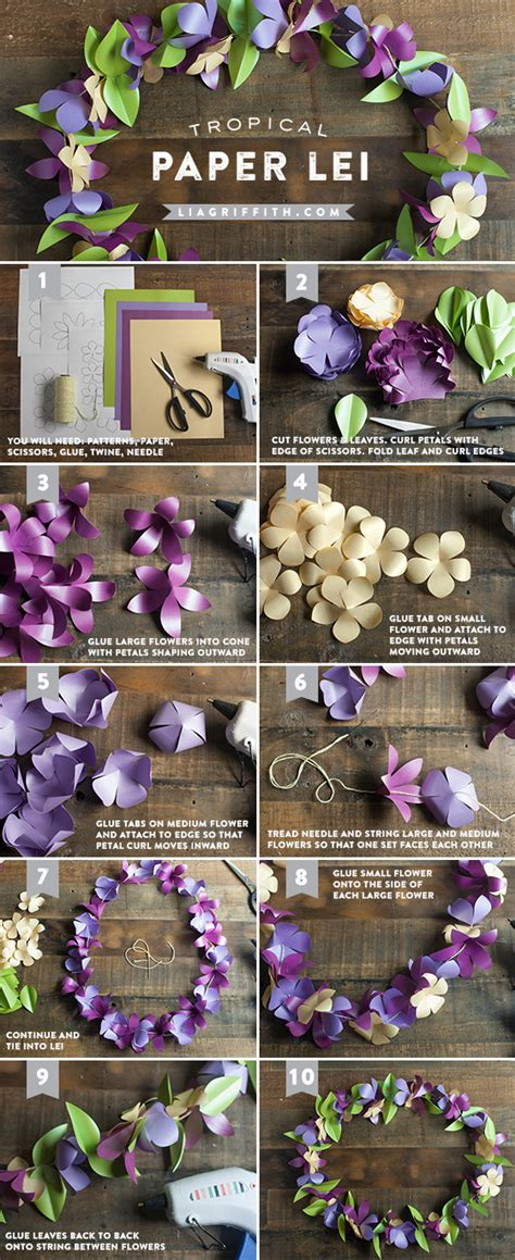 How To Make Paper Leis - make a tropical paper flower roxwell press