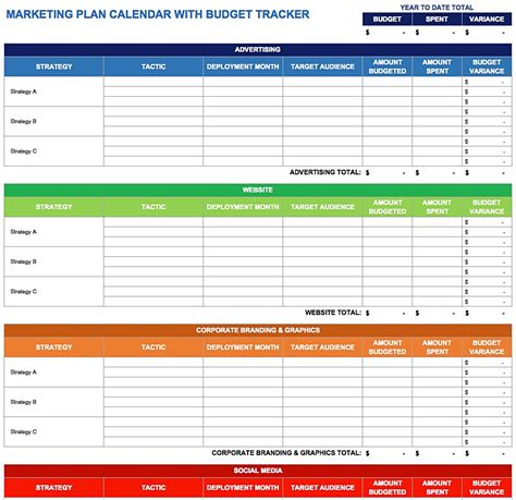 annual marketing calendar template annual sales plan template masir